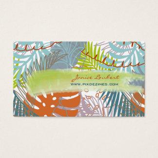 PixDezines rainforest/tropical leaves/DIY color Business Card