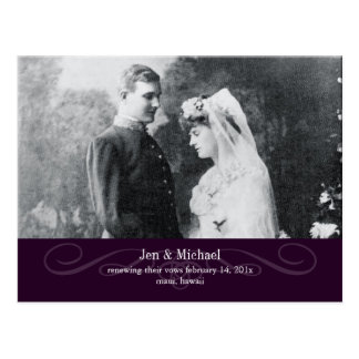 PixDezines Re-newing Vows, save the date/DIY color Postcard