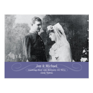 PixDezines Re-newing Vows, save the date/DIY Postcard