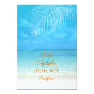 PixDezines reception/rsvp tropical beach Card