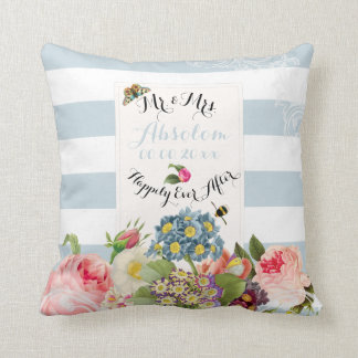 PixDezines redoute primrose/vintage chic Throw Pillow