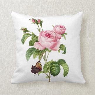 PixDezines redoute roses Throw Pillows