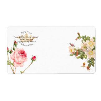 PixDezines Redoute Vintage Roses/Gold Crown Label