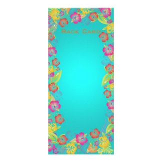 PixDezines retro bold hibiscus/diy backgrond Rack Card