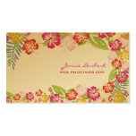 PixDezines retro bold tropical flowers/gold stock Business Card Template