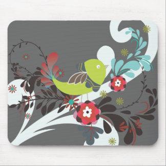 PixDezines retro chick/diy background color Mouse Pad