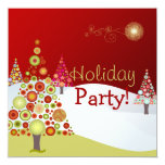 "PixDezines Retro Christmas Ornaments/DIY fonts 5.25"" Square Invitation Card"