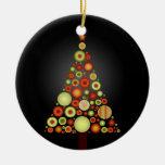 PixDezines Retro Christmas Ornaments Tree
