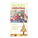 PixDezines Retro Christmas Ornaments Tree Photo Card Template