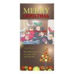 PixDezines Retro Christmas Ornaments Tree Custom Photo Card