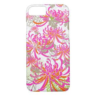 PixDezines retro chrysanthemums/DIY background iPhone 7 Case