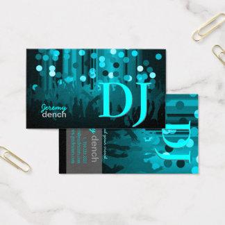 PixDezines Retro DJ+dance hall Business Card