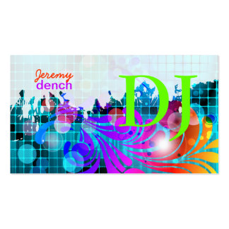 PixDezines Retro DJ+disco swirls Business Card Templates