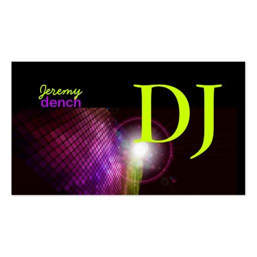 PixDezines Retro DJ+disco tiles Business Cards