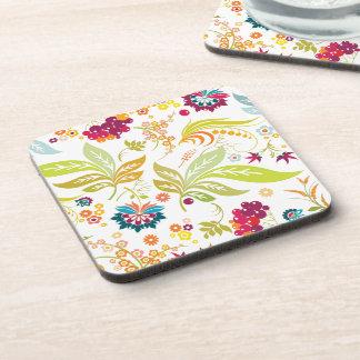 PixDezines retro flora/DIY background color Coaster