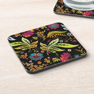 PixDezines retro flora/DIY background color Coasters