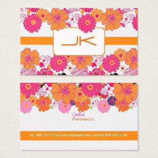 PixDezines Retro Floral ~ Alegre Business Card