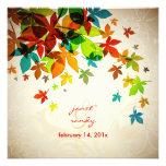 PixDezines Retro Maple Leaves/fall wedding Personalized Invite