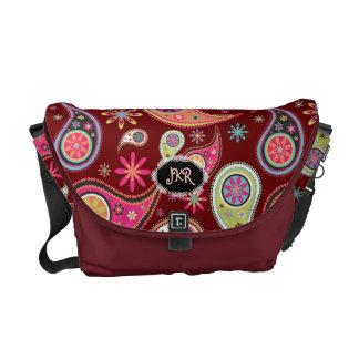 PixDezines Retro Paisley/DIY background Commuter Bags