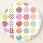 PixDezines Retro Polka Dots/DIY background color! Coasters