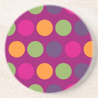 PixDezines Retro Polka Dots/DIY background color! Coaster