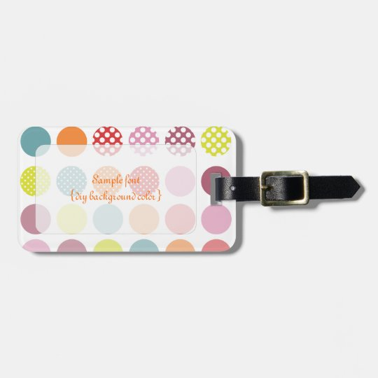 PixDezines retro polka dots/diy background Luggage Tag