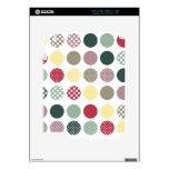 PixDezines retro polka dots/diy background iPad 2 Skin