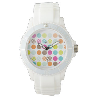 PixDezines retro polka dots Watch