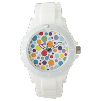 PixDezines retro polka dots Wrist Watch