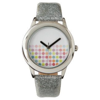 PixDezines retro polka dots Wristwatch