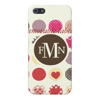 PixDezines Retro Polkadots, Custom Color ♥♥♥♥ Case For iPhone SE/5/5s