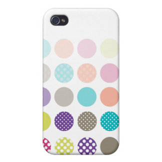 PixDezines Retro Polkadots, Custom Color ♥♥♥♥ Cover For iPhone 4