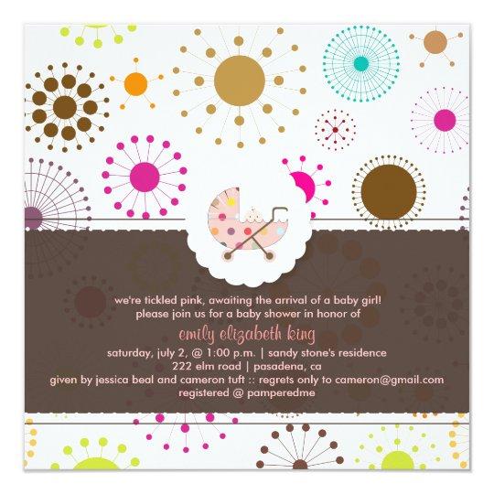 PixDezines Retro Stars, baby shower Card