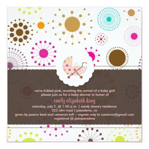 PixDezines Retro Stars, baby shower Invitation