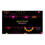 PixDezines Retro Stars, custom background color! Business Card