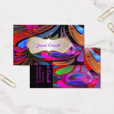 Professional Business PixDezines Retro Swirls Business Card