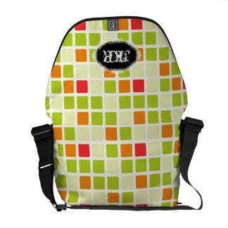 PixDezines retro tiles/DIY background Messenger Bag