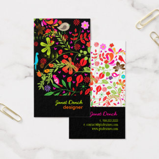 PixDezines RETRO TREE/DIY background color Business Card