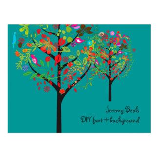 PixDezines Retro/Vintage/Tree Trimmers Marketing Postcard