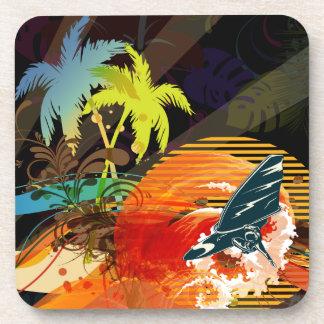 PixDezines riptide surfers/diy background color Drink Coaster