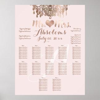 PixDezines Rose Gold Chandelier/Heart/DIY Bckgrnd Poster