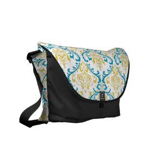 PixDezines Rossi Damask/DIY background color! Messenger Bag