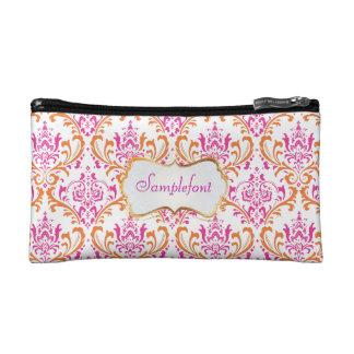 PixDezines rossi damask/diy background+text Cosmetic Bag