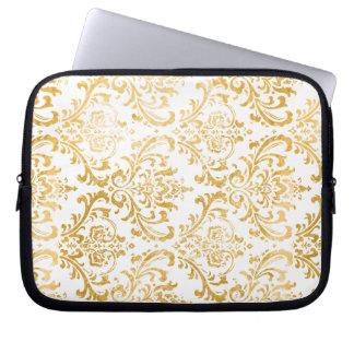 PixDezines rossi damask/faux gold Laptop Sleeve