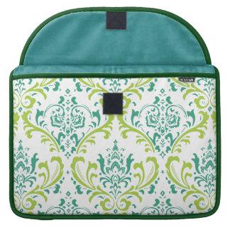 PixDezines rossi damask/teal/lime green Sleeve For MacBooks