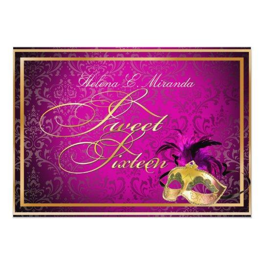 PixDezines Rossi Sweet 16 Masquerade/DIY color!! Card