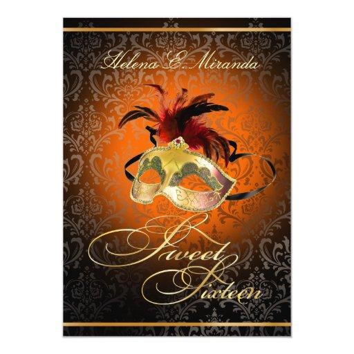 PixDezines Rossi Sweet 16 Masquerade/DIY color!! Custom Invite