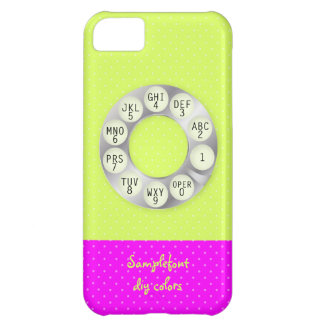 PixDezines rotary phone/faux silver/DIY background iPhone 5C Covers