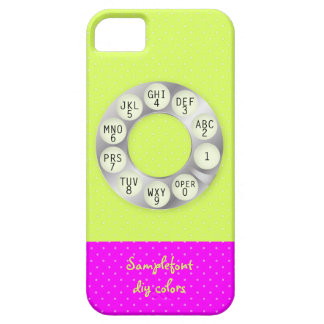 PixDezines rotary phone/faux silver/DIY background iPhone SE/5/5s Case