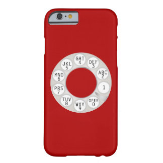 PixDezines rotary phone/white dial/DIY background Barely There iPhone 6 Case